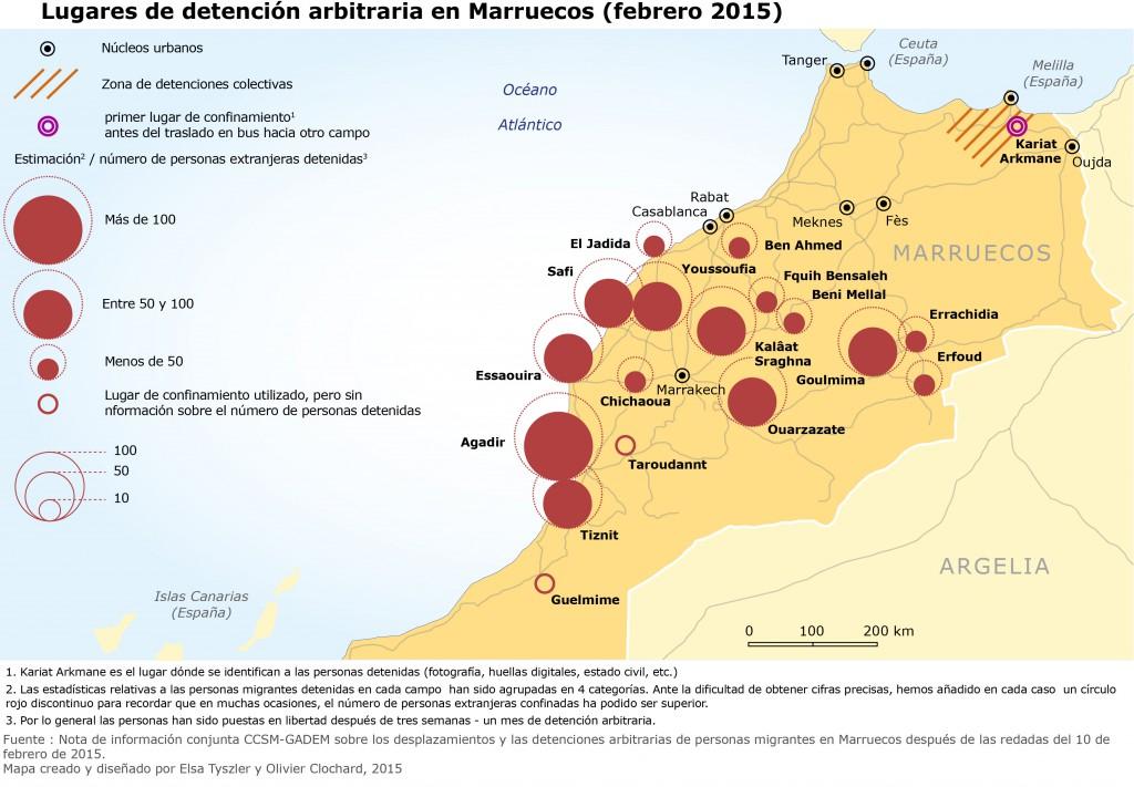 Redadas y detención arbitraria en Marruecos - febrero 2015